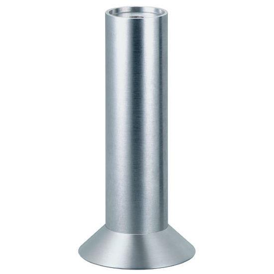 "Hafele Furniture Foot, with Angled Plate, Matt Aluminum, 165mm (6-1/2"") H"