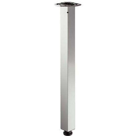"Hafele Square Leg, Steel or Aluminum, 152mm (6"") W x 97mm (3-13/16"") D x 705mm (27-3/4'') H, Available in Multiple Finishes"