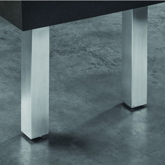 Hafele Square Table Leg, Stainless Steel