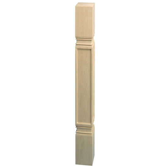 Hafele Arcadian Collection Hand Carved Post, 3-1/2'' W x 3-1/2'' D x 34-1/2'' H