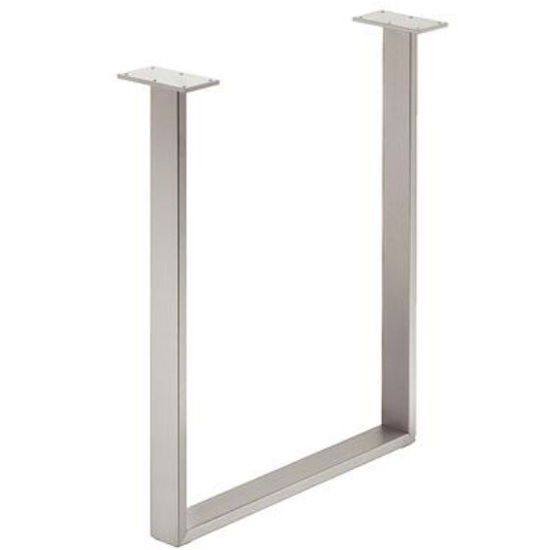 Hafele U-Leg, Steel, 60mm (2-3/8'') W x 600mm (23-5/8'') D x 720mm (28-3/8'') H, Silver