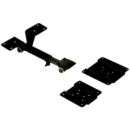"Hafele Flat Panel Display Arm Monitor Suspension System, 21 lb. Load Rating, 5-1/4"" - 8-7/16"" Arm Length Adjustment, Steel, Black"