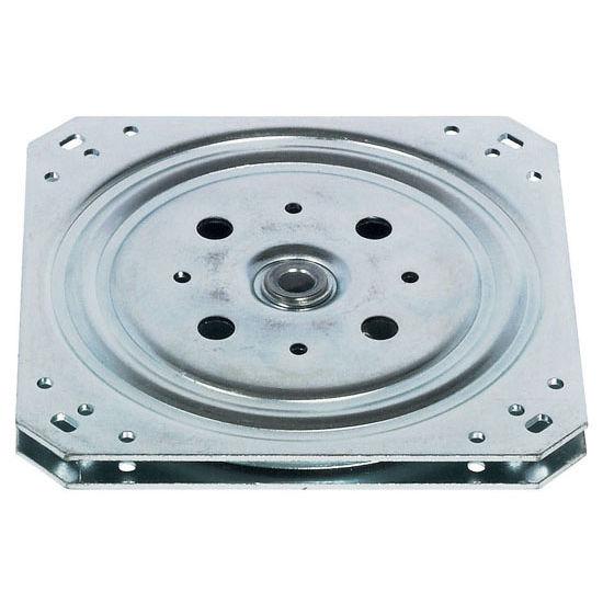 """Hafele Turntable, 360 Degree Rotation, 330 lb. load capacity, Steel, Galvanized, 6-1/8"""""""