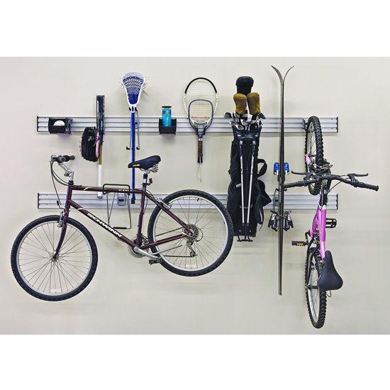 Hafele Omni Track Ready Pack Sports Kit, with Hooks and Storage Bin