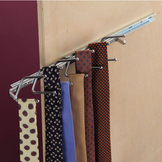 Tie Rack with Single Extension Slide