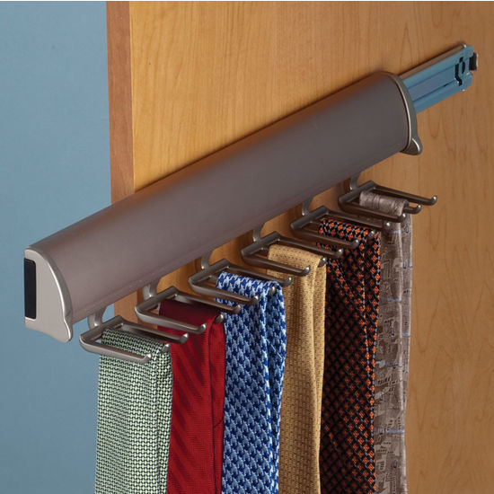 Hafele Synergy Elite Collection Telescopic Tie Rack For Door Or Side Of Wardrobe Mounting