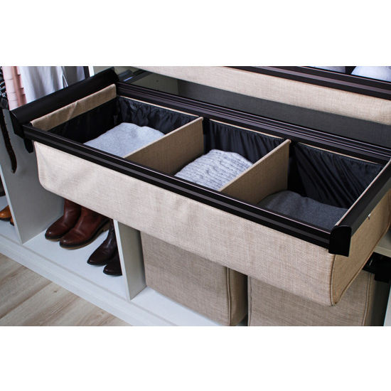 Kitchen Sink Hafele: Engage Fabric Divided Deep Drawer With Full Extension