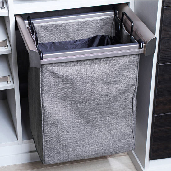 Hafele Engage Laundry/Pant Rack Pull-Out Frame, Matt Nickel