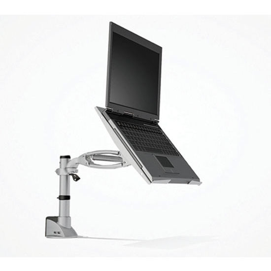 "Hafele Laptop Tray, For Ellipta® Monitor Swivel Arm System, Silver, 12-3/8""W x 12-3/8""D"