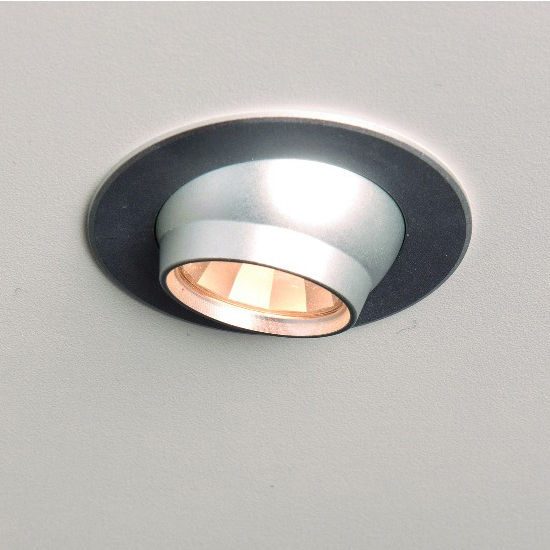 Cabinet lighting luminoso 12v 1109 recess mounted swivel round led view larger image mozeypictures Image collections