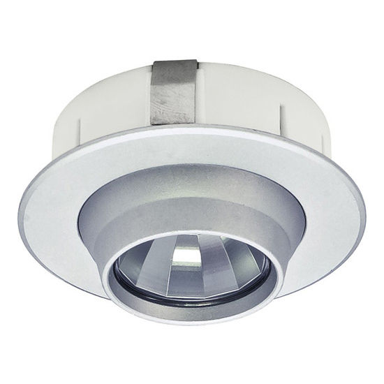 Cabinet lighting luminoso 12v 1109 recess mounted swivel round led view larger image aloadofball Gallery