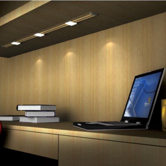 Hafele Loox 24V LED #3006 Rail Light Kit with 3 lights & Cabinet Lighting - Hafele Loox 24V LED 3006 Rail Task Light Kit with ...