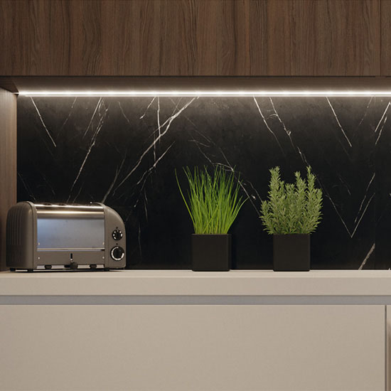 Hafele LOOX LED 24V #3032 Flexible Light Strip with 840 LEDs, IP20, Multi-white ribbon, 2700-5000K, 5000mm (16' 4-7/8'') Length