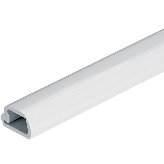 "Hafele LOOX LED Cable Management Channel for Surface Mounting, 98-3/8"" (2500mm) Length, White, Plastic with Adhesive Tape"