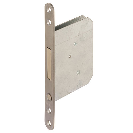 Hafele Spring-Loaded Pocket Door Edge Pull, With Pull Handle & Push Button, Matt Stainless Steel, 20mm