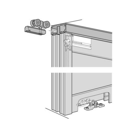Sliding Door Hardware Hafele Divido 100 Grm Fitting Set