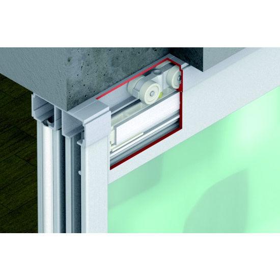 Sliding Door Hardware Hafele Divido 100 Grm Fitting Set Top Hung Amp Bottom Rolling System Suitable For 2 4 Sliding Doors For Wood Or Glass