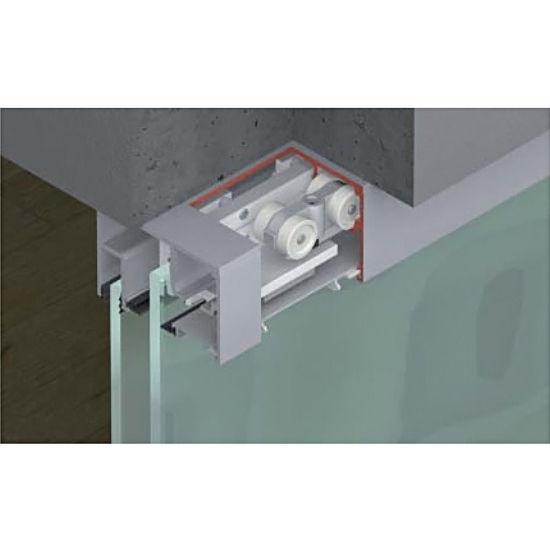 Hafele porta 100 gwf fitting set sliding door hardware for Top hung sliding glass doors