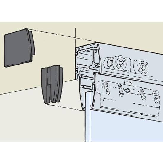 Sliding door hardware hafele porta 100 gu fitting set for Top hung sliding glass doors