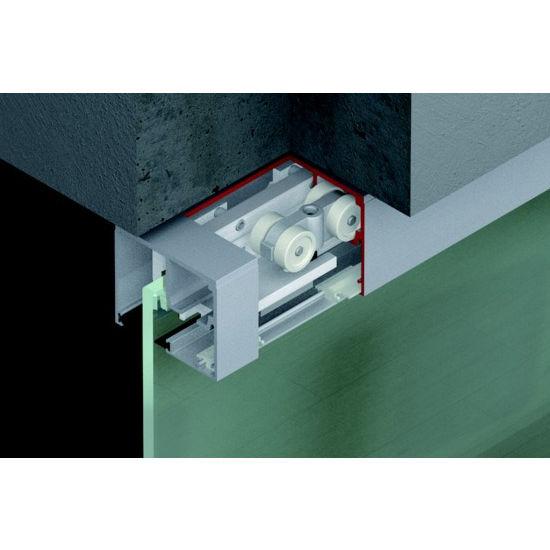 sliding door hardware hafele porta 100 gw fitting set top hung system for surface mounted or. Black Bedroom Furniture Sets. Home Design Ideas