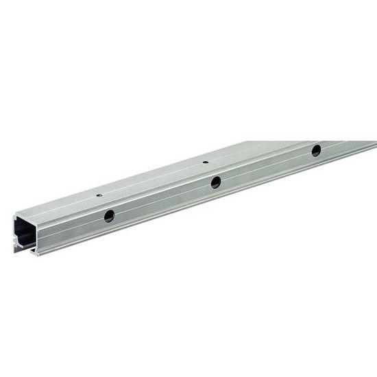 "Hafele Porta 100/ Divido 100 GR Single Upper Running Track, 2.5 m (8' 2-7/16"") length; 39mm W x 41mm D (1-17/32""W x 1-39/64""D), Aluminum"