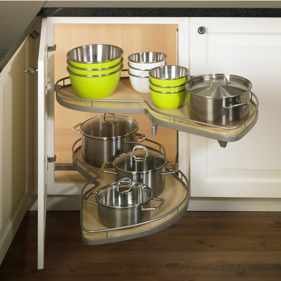 Lemans Ii Kitchen Blind Base Corner Organizers By Hafele