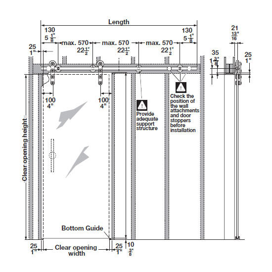 Sliding Barn Doors Sliding Barn Door Dimensions