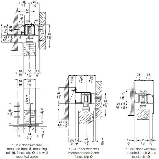 Hafele Sliding Door Hardware Slido Classic 80 P Sliding