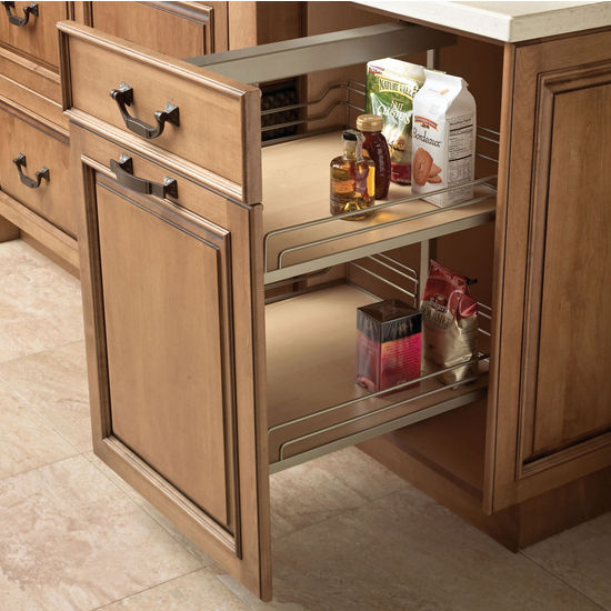 Cabinet organizers hafele height adjustable soft for Pull out drawers for kitchen cabinets