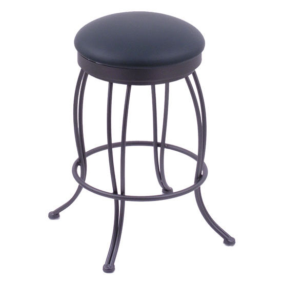 Holland Georgian Wrought Iron Swivel Bar Stool
