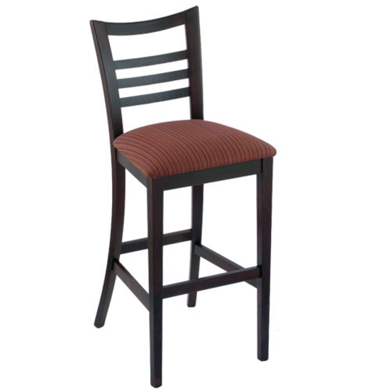 Holland Ladder Back Bar Stool With Fabric Or Vinyl Seat