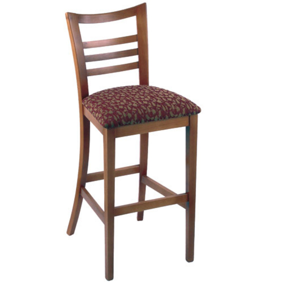 holland ladder back bar stool with fabric or vinyl seat hb 4120. Black Bedroom Furniture Sets. Home Design Ideas