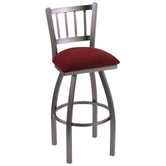 Holland Contessa Swivel Bar Stool with Fabric or Vinyl  : hb 810s f l s3 from www.kitchensource.com size 550 x 550 jpeg 74kB