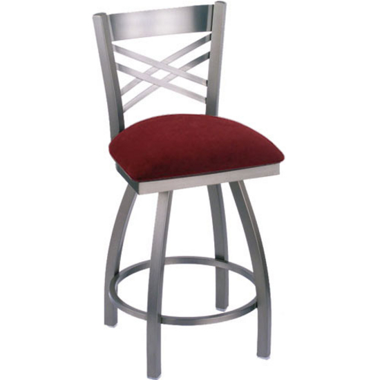 Holland Catalina Swivel Bar Stool with Fabric or Vinyl  : hb 820s f l s3 from www.kitchensource.com size 550 x 550 jpeg 82kB