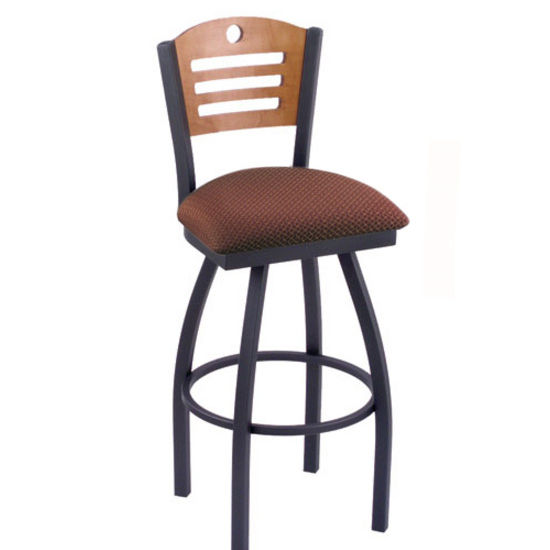 holland voltaire swivel bar stool with fabric or vinyl seat style d back hb vo830. Black Bedroom Furniture Sets. Home Design Ideas