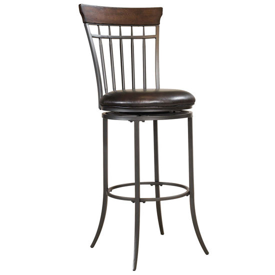 Hillsdale Furniture Cameron Swivel Vertical Spindle Back Counter Stool