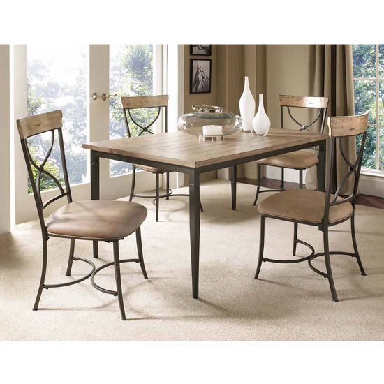 Hillsdale Furniture Charleston 5-Piece Rectangle Dining Set with X-Back Chairs