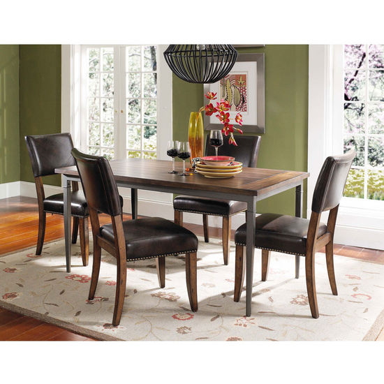 Hillsdale Furniture Cameron 5-Piece Rectangle Dining Set with Parson Chairs