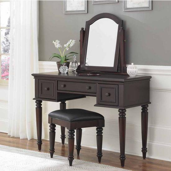 Home Styles Bermuda Vanity, Mirror & Bench, Espresso