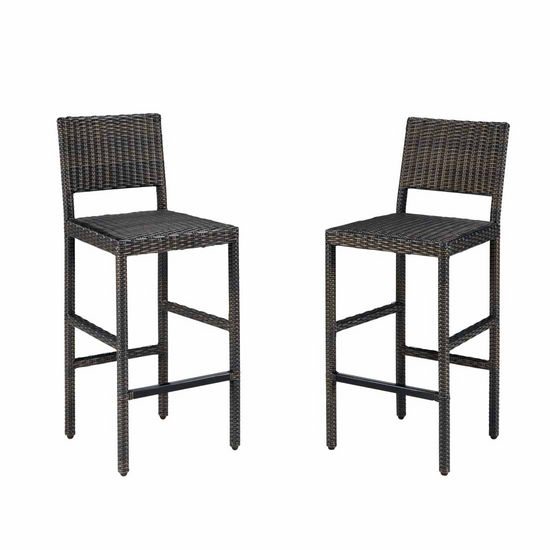 Home Styles Riviera Outdoor Woven Bar Stool, Brown