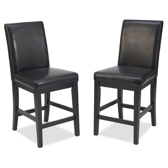"Home Styles Nantucket Bar Stool, Distressed Black Finish, 18""W x 21""D x 40""H"