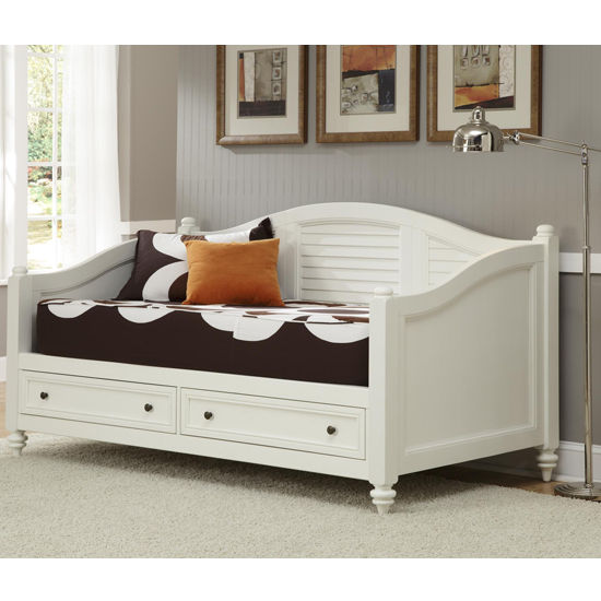 Home Styles Bermuda Daybed, Brushed White Finish