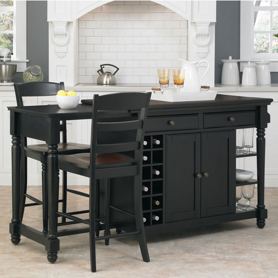 Home Styles Grand Torino Kitchen Island & Two Stools