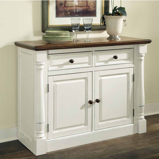 Home Styles Monarch Buffet, Oak and White