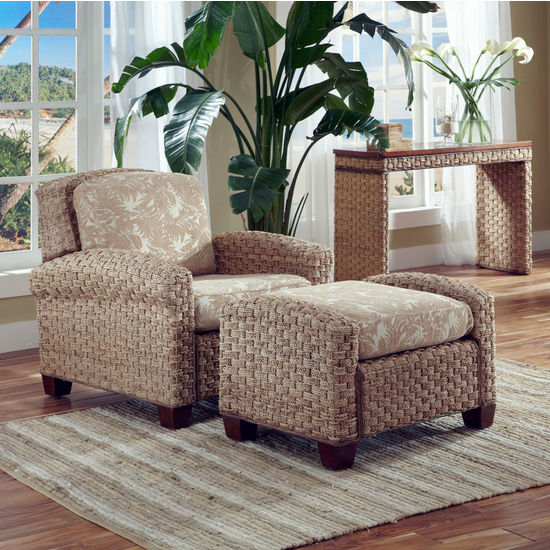 Home Styles Cabana Banana II Chair & Ottoman, Honey