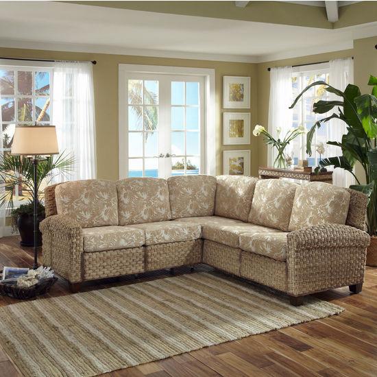 "Home Styles Cabana Banana II ""L"" Sectional Sofa, Honey"