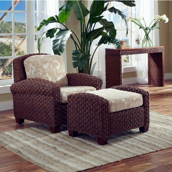 Home Styles Cabana Banana II Chair & Ottoman, Cinnamon