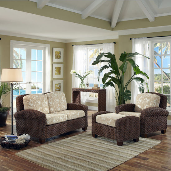 Home Styles Cabana Banana II Chair, Ottoman, and Love Seat