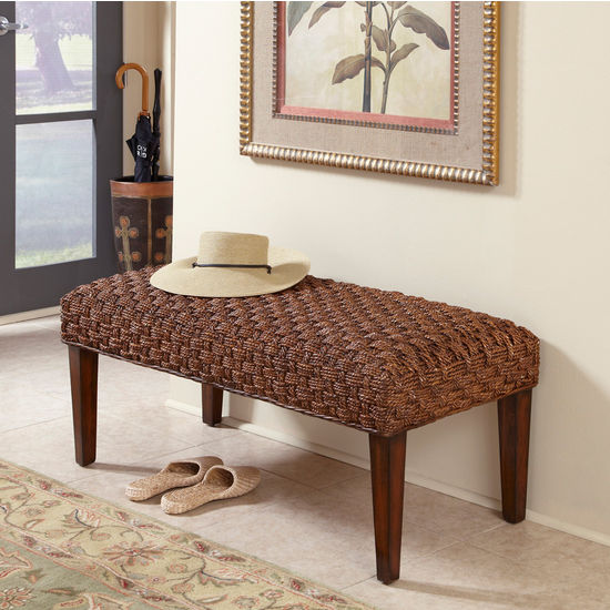 Home Styles Cabana Banana II Bench, Cinnamon