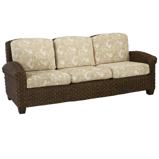 Home Styles Cabana Banana II Three Seat Sofa, Cinnamon